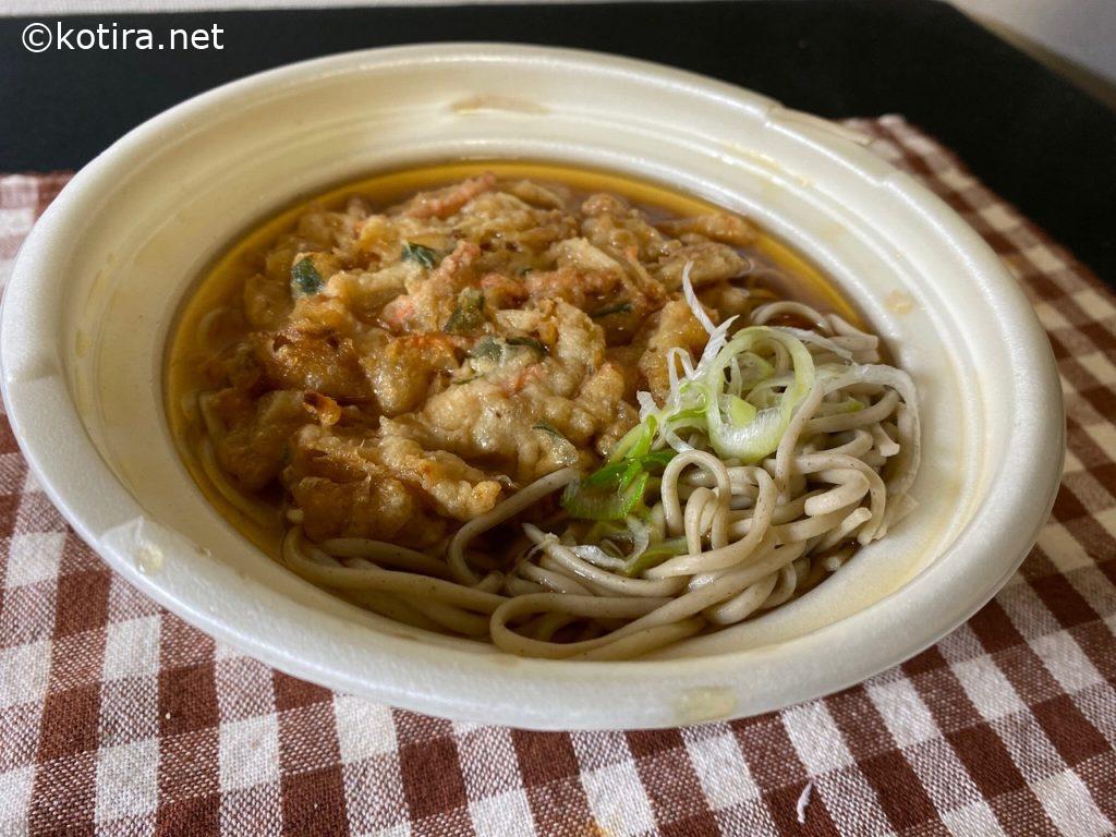 セブンイレブン かき揚げ蕎麦 レンジ