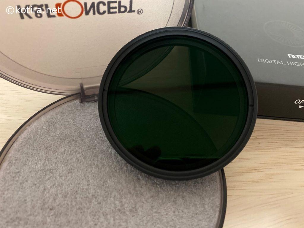 ND2-ND32減光フィルター 薄型 レンズフィルター K&F Concept 開封